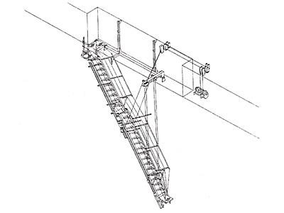 伸縮式垂直格納型舷梯装置