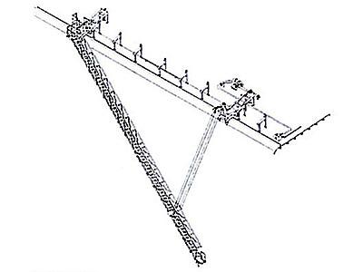 シングルウインチ付傾斜引込式水平格納型舷梯装置