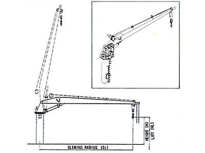 油圧式 ホースハンドリングクレーン