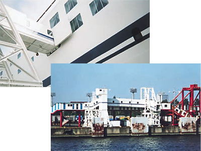 名古屋港 客船フェリー用ギャングウェイ装置