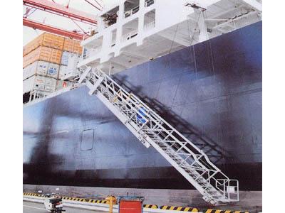 商船用水平格納型舷梯装置