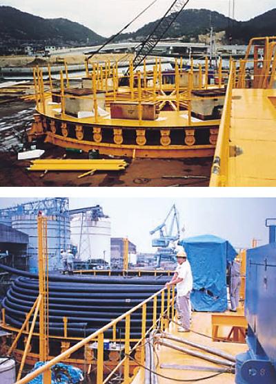 海底ケーブル敷設用1000TON ターンテーブル