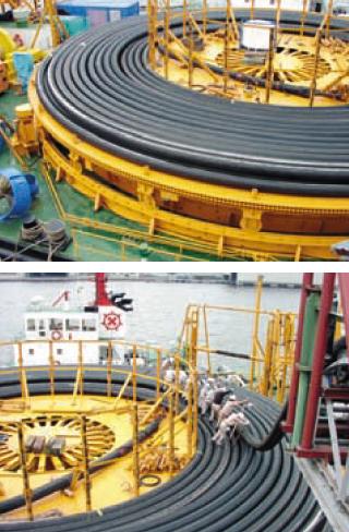 海底ケーブル敷設用2500TON ターンテーブル